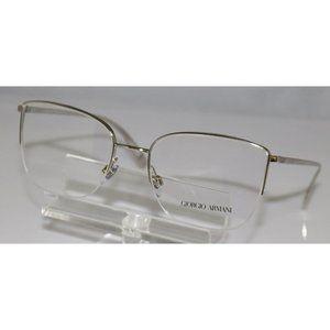 New Giorgio Armani Silver Eyeglasses